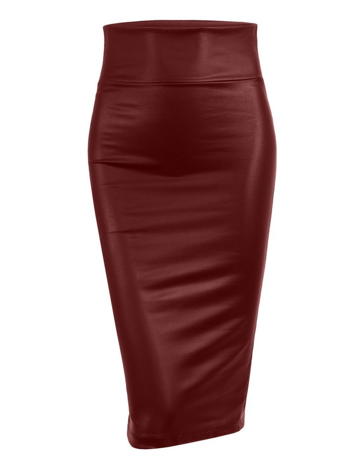 This fitted solid high waisted midi skirt with stretch is perfect for any occasion. For a casual look pair with a crop top. Feature 90% Polyester / 10% Spandex Stretchy fabric with wide waist band for comfort Back center slit / Double stitching on bottom hem Hand or machine wash in cold water / Do not bleach; Made in U.S.A Please look at measurements for guidance Model is wearing a size Small / Model's profile: 5'9 Sizing Info Small- Waist: 26in Length: 24in Medium...
