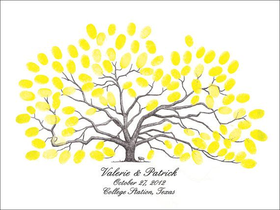 Thumbprint Tree Wedding Guest Book Texas A Century by theinklab, $100.00