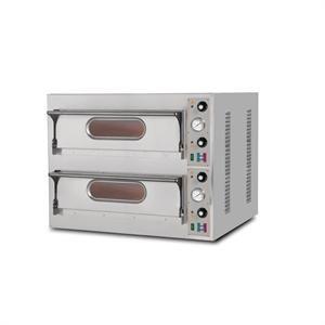 Horno eléctrico para pizza con 2 cámaras de cocción Resto Italia