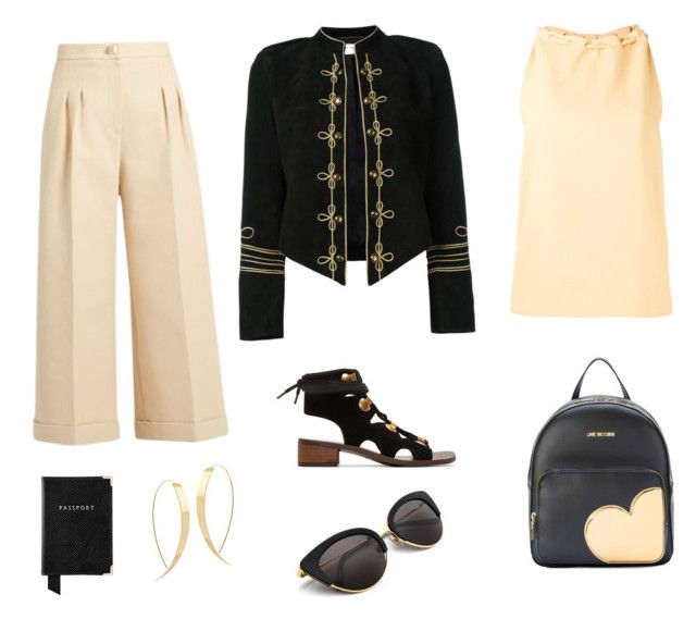 """""""Airport clothes"""" by susanscarter on Polyvore featuring Yves Saint Laurent, Lana, See by Chloé, Fendi, Nomia, Aspinal of London and Love Moschino"""