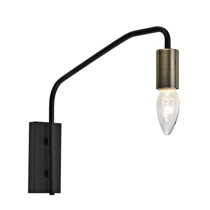 Applique Noir 40 W - BILLY HL160110  - Laurie Lumière