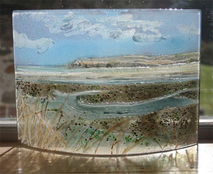 fused glass landscapes