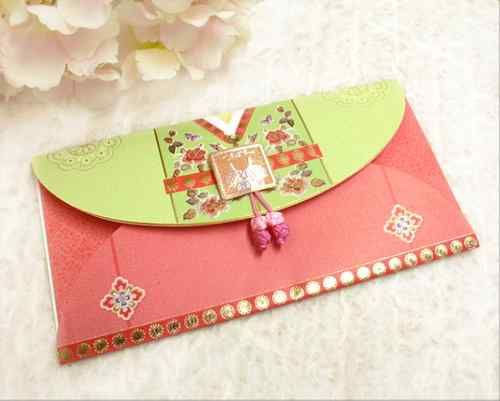 Money Check ENVELOP GIFT CARD LETTER Thank You Korean Traditional Pack 5pcs