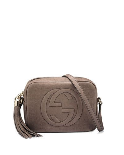 Gucci Soho Nubuck Leather Disco Bag, Gray