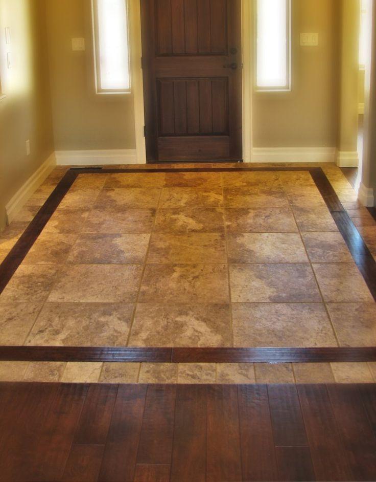 22 best wood\/tile floor combo images on Pinterest Homes - kitchen tile flooring ideas