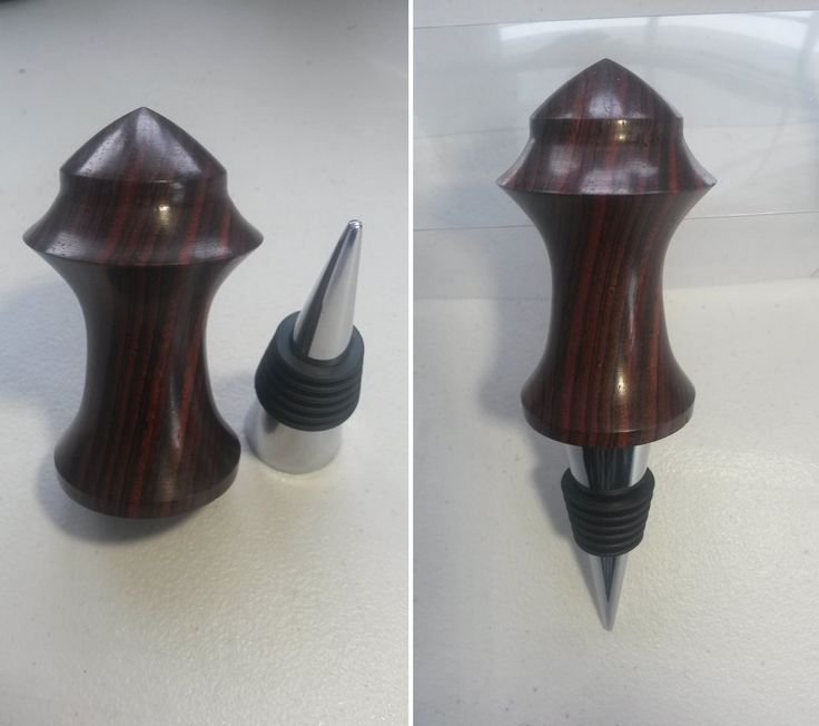 Turned Wine stopper made from Cocobolo. By: Joshua Stone 2012