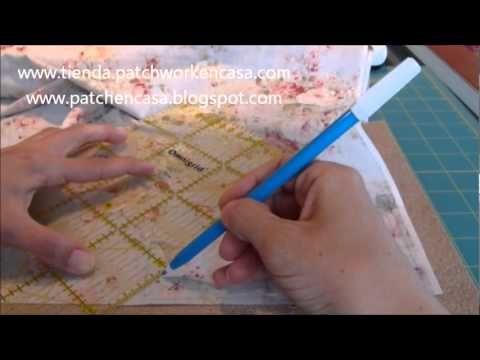 Cómo hacer Plantillas de Patchwork y marcar el punto de encuentro de costuras - YouTube