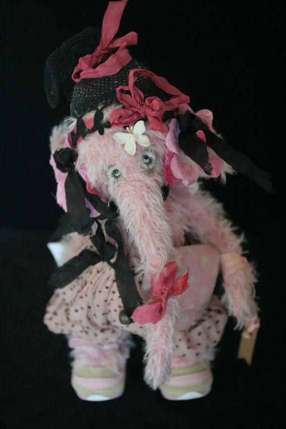 Ooak Handmade elephant plush: Butterfly by heliantas on Etsy