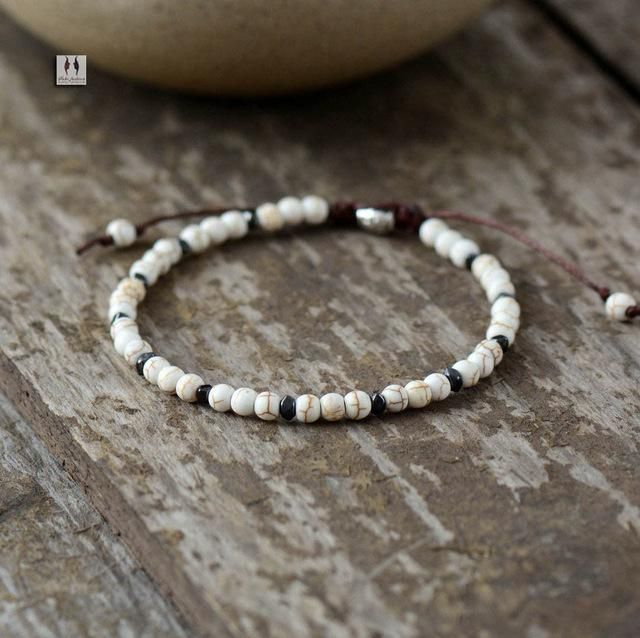 Natural Stone Shamballa Bracelet