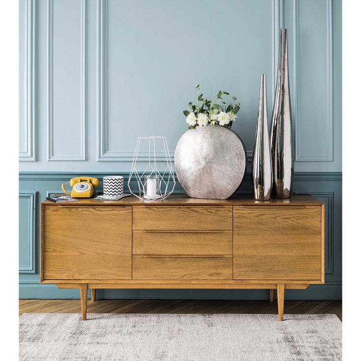 buffet enfilade en ch ne massif l 180 cm portobello. Black Bedroom Furniture Sets. Home Design Ideas