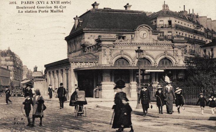 Les gares du Paris d'antan La gare de Neuilly - Porte Maillot (17ème arrondissement) vers 1900.