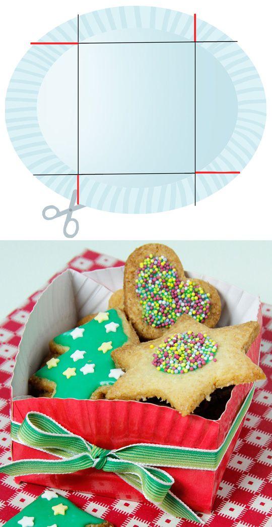 fabriquer une boite à gâteaux de noël