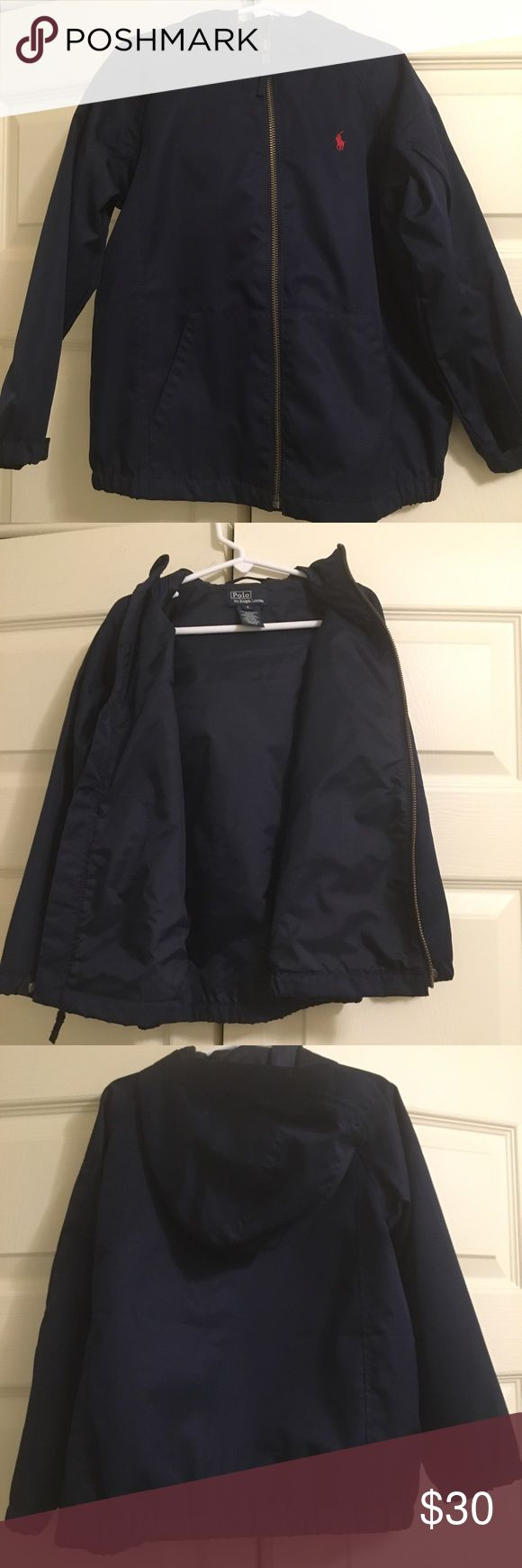 Boys Ralph Lauren outerwear jacket Ralph Lauren boys hooded 100% polyester packable outerwear jacket. Blue size 5. Jacket is in Excellent condition Polo by Ralph Lauren Jackets & Coats