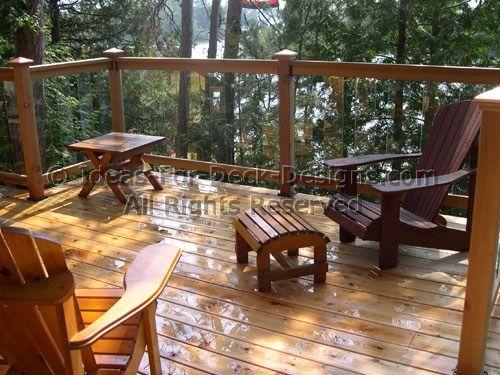 Glass Deck Railing – Choose Wood or Aluminum