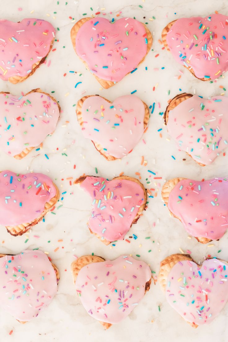 Heart Shaped Pop Tarts for Valentine's Day | By Lauren Lowstan for LaurenConrad.com