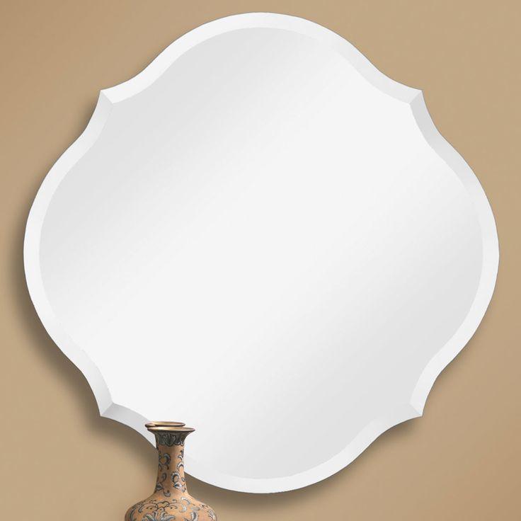 Beveled Scalloped Edge Frameless Mirror mirror