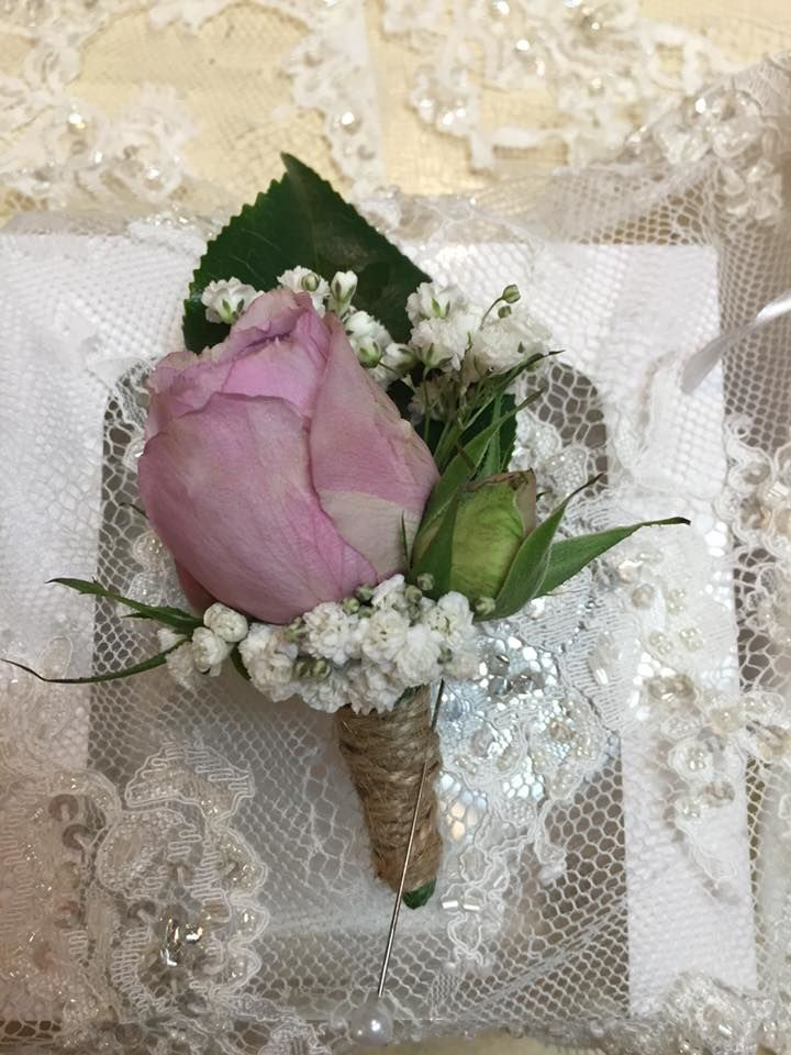 Vintage Pink Boutonniere Grande Moments Wedding Flowers www.grandemoments.com.au