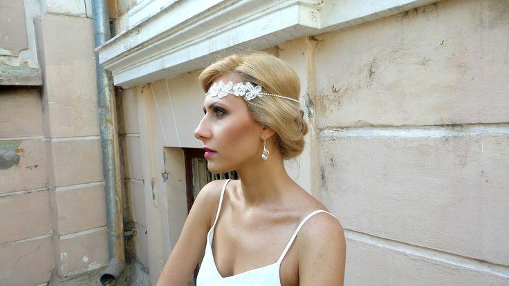 retro bridal hairband