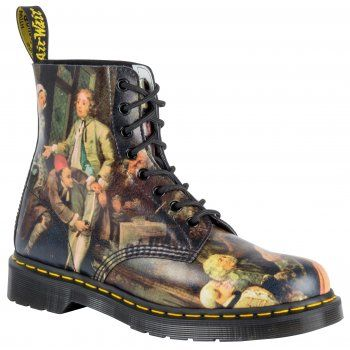 Dr Martens 1460 8-Eye boot has been a counter-culture classic since it first came out in 1960. The 8-eye Pascal boot gets a new season update in Hogarth Renaissance leather. Built on our signature air cushioned sole and with a self-scripted heel tag, these are a true Dr Martens classic. http://www.marshallshoes.co.uk/womens-c2/dr-martens-ladies-pascal-multi-coloured-boots-16375101-limited-edition-p3284