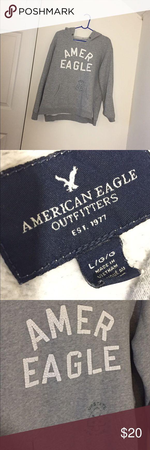 American eagle sweatshirt Gray American eagle sweatshirt with hood American Eagle Outfitters Tops Sweatshirts & Hoodies