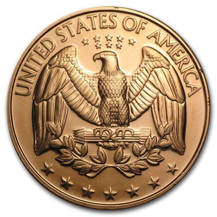 1 Onza 999 Cobre Moneda De Medalla Ee Uu U S Cuarto America Ebay Monedas Medallas Cobre