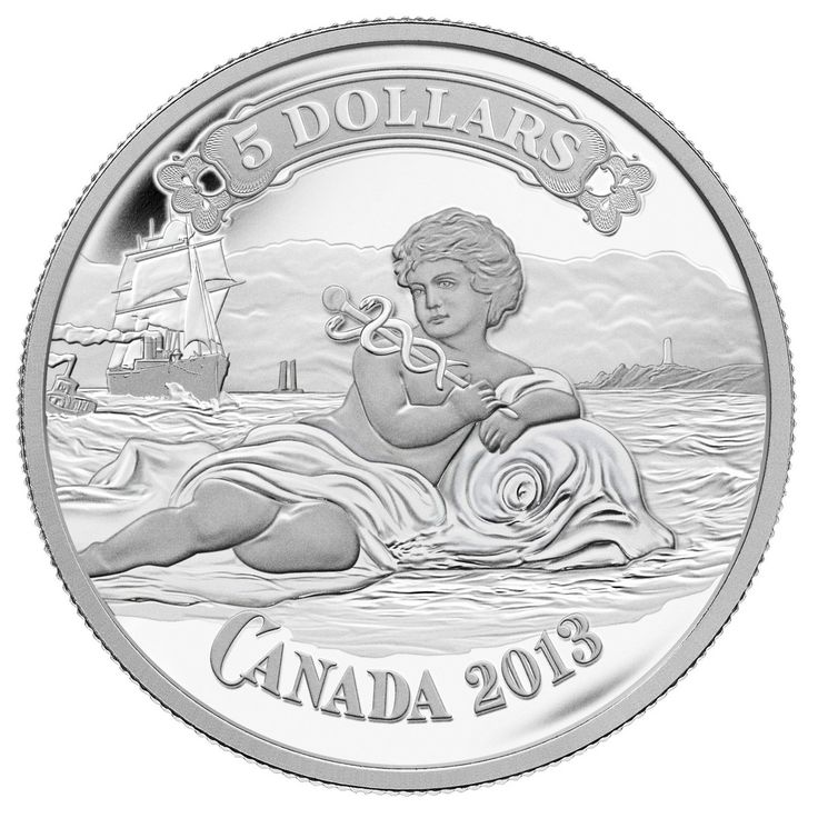 Royal Canadian Mint 2013 $5 Fine Silver Coin - Canadian Bank of Commerce Bank Note $69.95