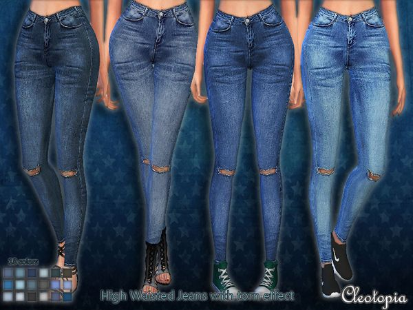 The sims 4 skinny jeans female