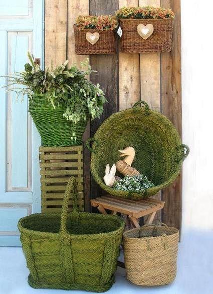 Decoraci n con cestas de mimbre decoraci n del hogar - Decoracion mimbre ...