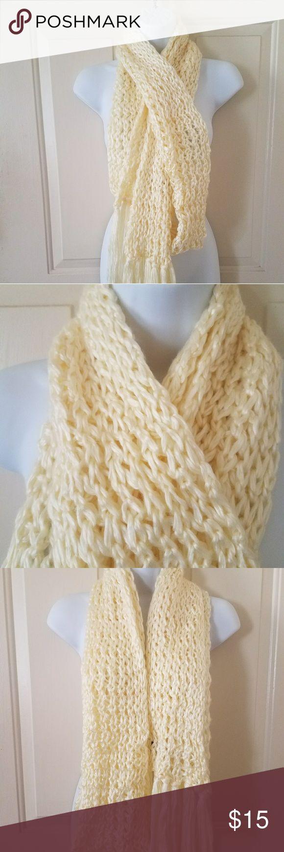 Preston & York Cream Beige Scarf Preston & York Cream Beige Scarf  Very soft and cozy scarf. It's approximately 108 inches long.  On the mannequin, it is folded in half. Preston & York Accessories Scarves & Wraps