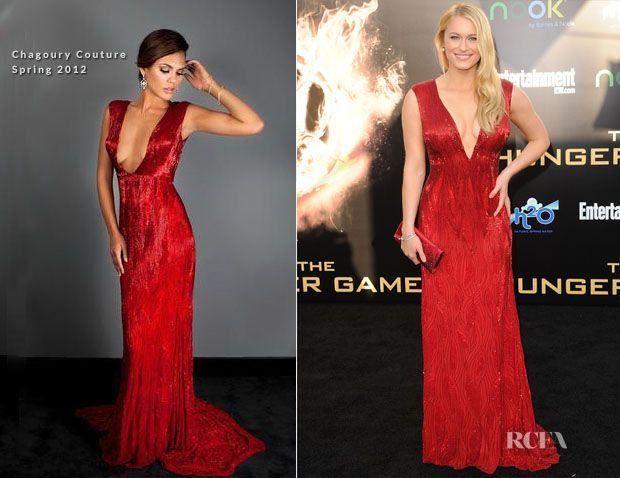Leven Rambin In Chagoury Couture – 'The Hunger Games' LA Premiere