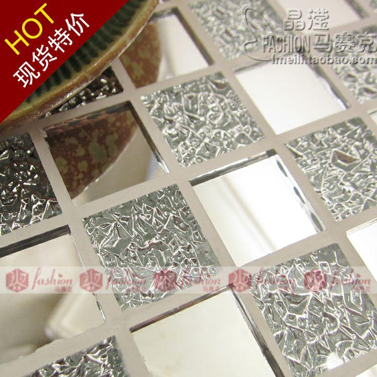 Mattonelle di vetro e bianco ondulato x x cm with for Piastrelle adesive da parete