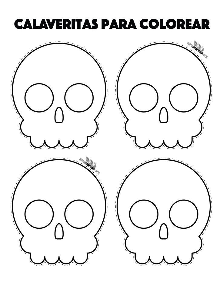 Resultado de imagen para calaveras dia de muertos para colorear