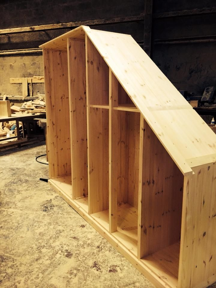 The start of one of fitted wardrobes made in Cornwall.
