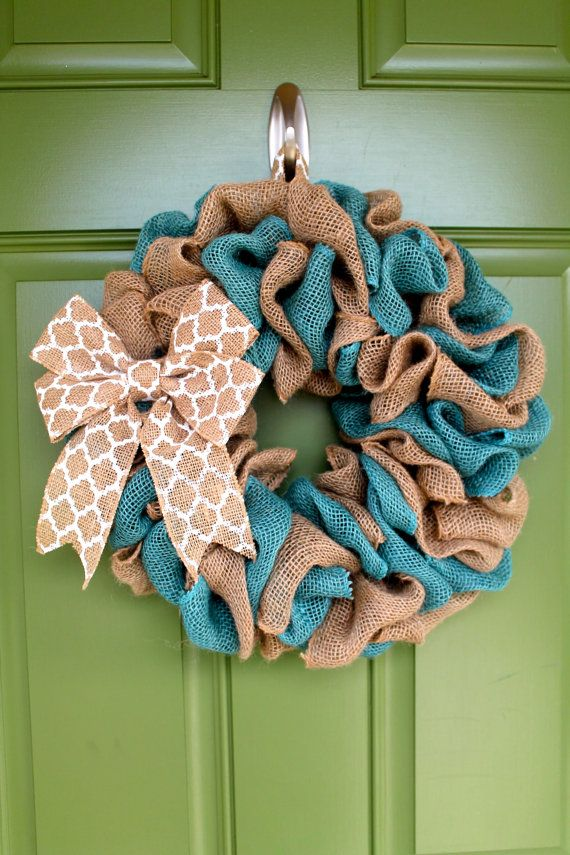 Easter Wreath Spring Burlap Wreath Summer by BurlapWreathsByMo