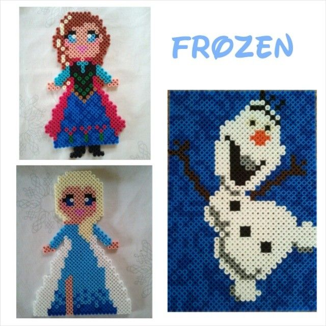 Frozen characters hama perler beads by lbachj