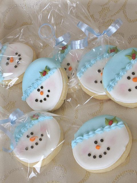 Snowman Cookie  Love these!