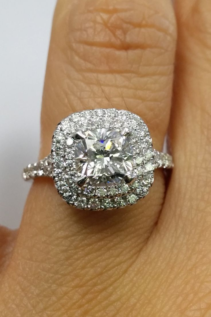 1000 ideas about double halo engagement ring on pinterest. Black Bedroom Furniture Sets. Home Design Ideas