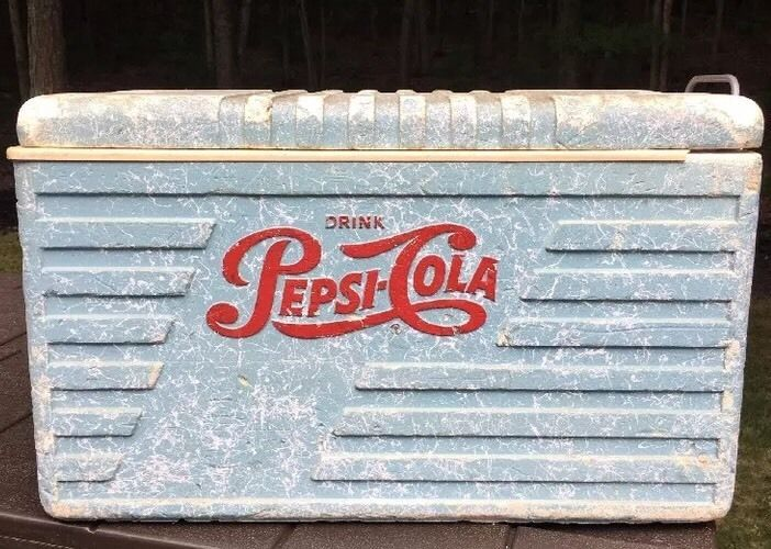 Vintage1950's Pepsi Cola Styrofoam Refrigerator Cooler Rare Piece of Americana #PepsiCola
