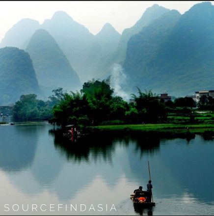 Yangshuo County Guilin China - Keep close to Nature's heart... and break clear away once in awhile and climb a mountain or spend a week in the woods. Wash your spirit clean - John Muir #sourcefindasia #nature #china #yangshuo #guilin #travel #beauty #mountains #river