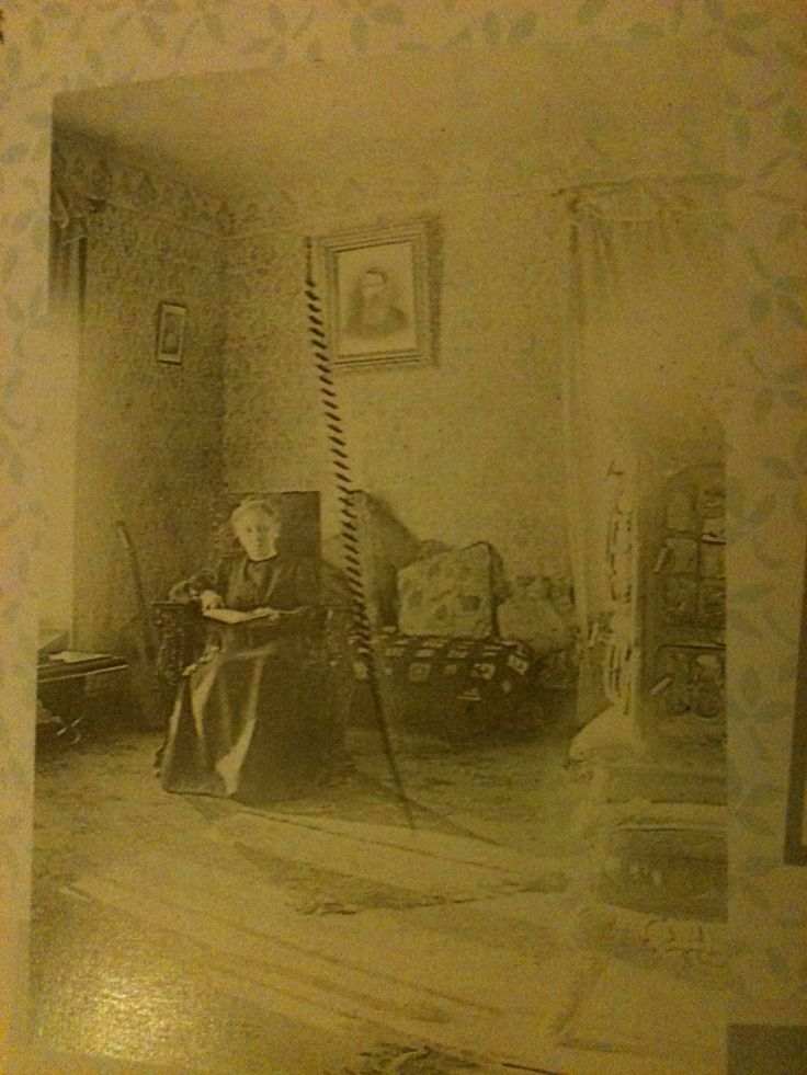 Caroline Ingalls in her parlor. the reason there is a scratch down the middle? Carrie dropped a scissors on it while developing it. :)