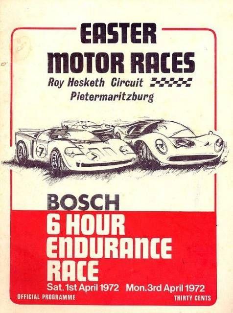 Roy Hesketh Racing Programmes 1st & 3rd April 1972 | Pietermarizburg