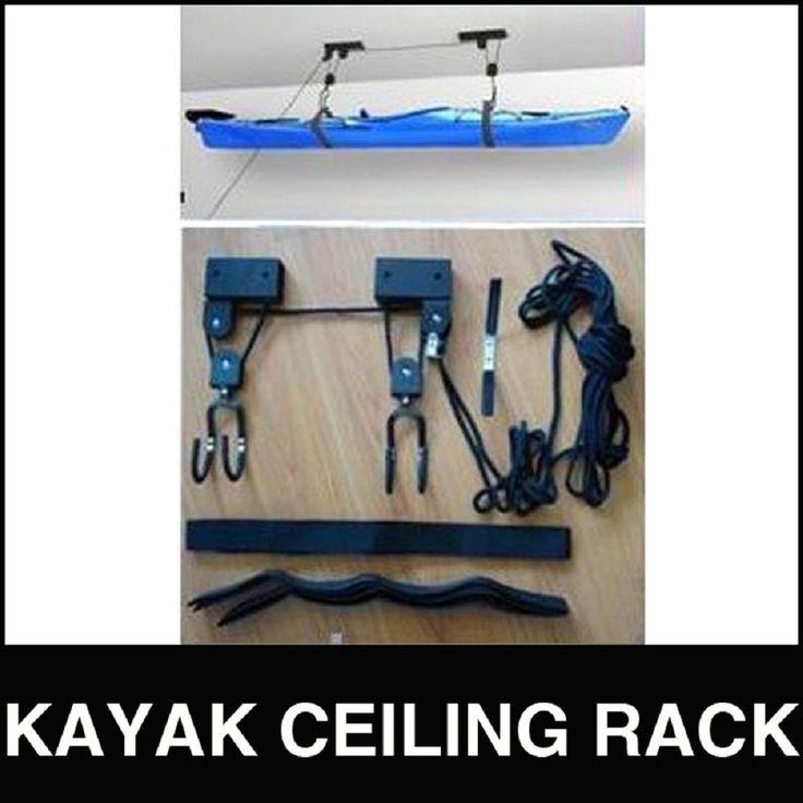 Kayak Hoist Lift Pulley System Ceiling Rack Hook Garage Rack Storage In  Sporting Goods, Boating, Water Sports, Equipment | EBay | Surf | Pinterest  | Garage ...