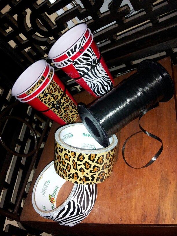 Safari themed cups