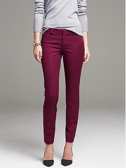 Sloan-Fit Slim Ankle Pant - Pants...BR $90 minus 45%...lingon berry and/or Atlantic taupe.  16