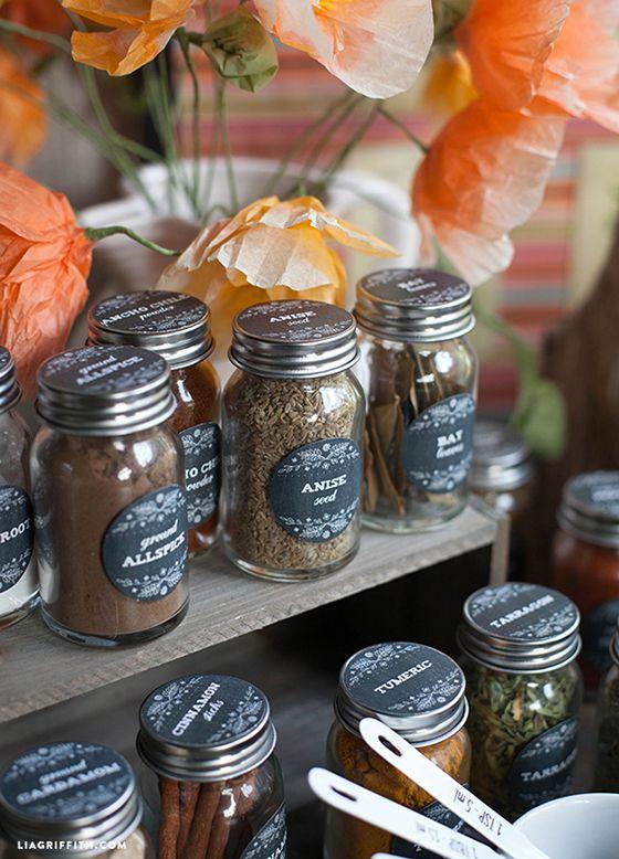 FREE printable Herb Spice Jar Labels