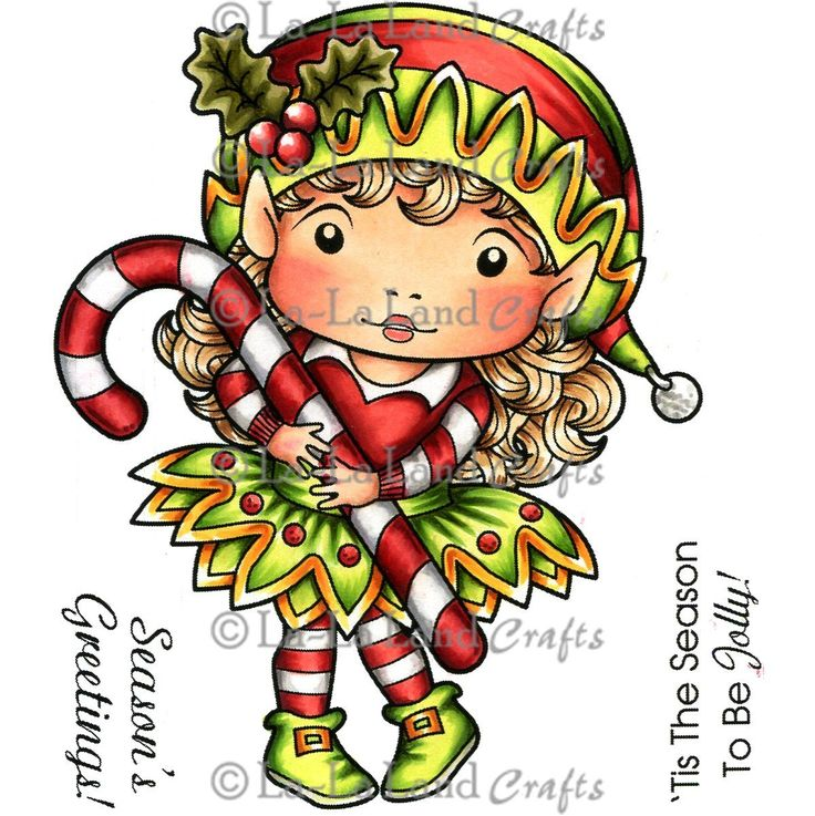 "Amazon.com: La-La Land Cling Mount Christmas Stamp 4.5""X3.5""-Elf Marci: Arts, Crafts & Sewing"