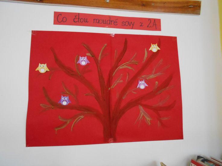 Čtenářský strom - za každou přečtenou knihu žáka přibude na stromě lísteček s názvem přečtené knihy.