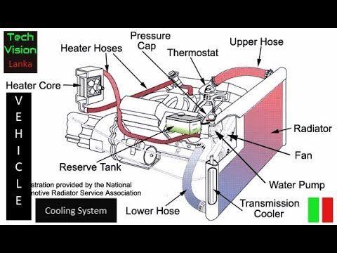 How does a vehicle cooling system work?? | Tech Vision Lanka ... Harley Davidson Engine Cooling Diagram on