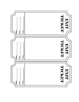 FREEBIE - Exit Ticket Template.  You can edit this template to fit your needs or print it out as is.