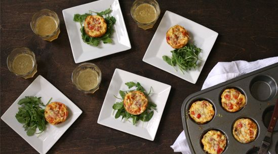 Mini quiches with hash browns